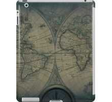 Old Map Of The World Grunge blueprint iPad Case/Skin