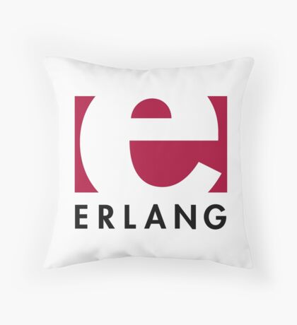 Erlang programming language logo Throw Pillow
