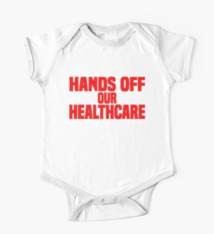 Hands Off Our Healthcare One Piece - Short Sleeve
