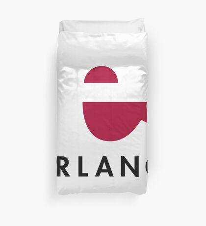 Erlang programming language logo Duvet Cover