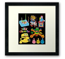 90s Nostalgia Toys Framed Print