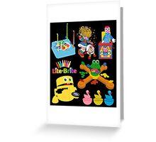 90s Nostalgia Toys Greeting Card