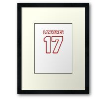NFL Player Rashad Lawrence seventeen 17 Framed Print
