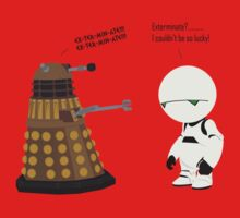 Dalek and Marvin mashup by JSKerberDesigns