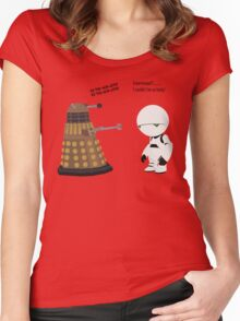 Dalek and Marvin mashup Women's Fitted Scoop T-Shirt