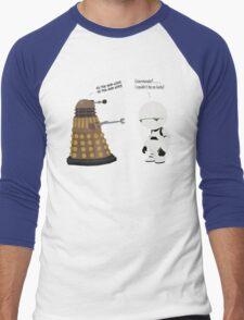 Dalek and Marvin mashup Men's Baseball ¾ T-Shirt
