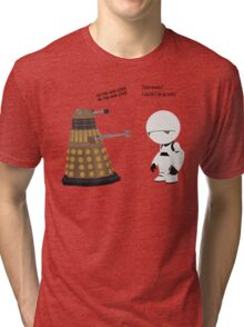Dalek and Marvin mashup Tri-blend T-Shirt