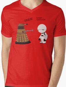 Dalek and Marvin mashup Mens V-Neck T-Shirt