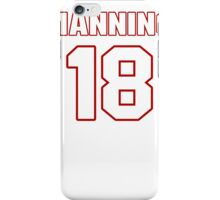 NFL Player Peyton Manning eighteen 18 iPhone Case/Skin