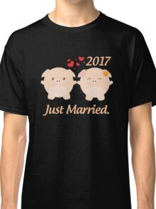 Just Married T Shirt - Best Gift for Couple. Classic T-Shirt