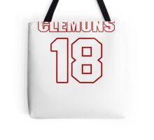 NFL Player Toney Clemons eighteen 18 Tote Bag