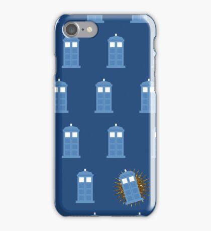 glitter tardis iPhone Case/Skin