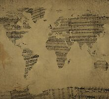 World Map music sheet  by Eti Reid