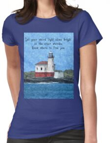 Let Your Light Shine Bright Womens Fitted T-Shirt