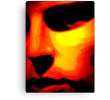 Abstract Male Face Canvas Print