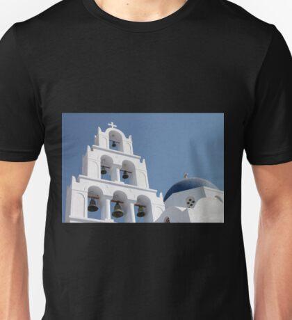 Bells. Pyrgos, Santorini, Greece Unisex T-Shirt