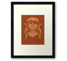 Brown Lady Paint Framed Print