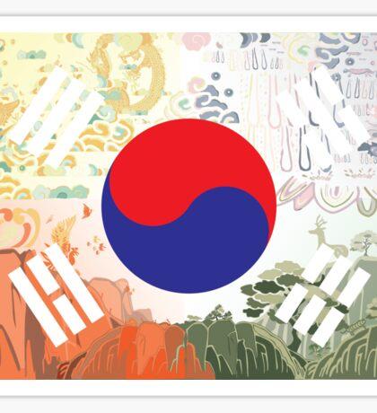 Postcard Creative Korea Sticker