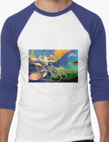 Ocean Flower Men's Baseball ¾ T-Shirt