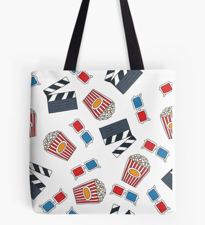 movie and cinema pattern Tote Bag
