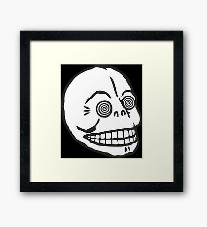 "Cheap Monday's ""Hypno Skull Cap"" (white) Framed Print"