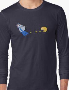 Retro Gaming Session -Pac burger- Long Sleeve T-Shirt