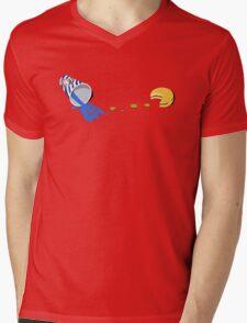 Retro Gaming Session -Pac burger- Mens V-Neck T-Shirt