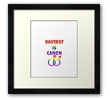Davekat is Canon (v2) Framed Print