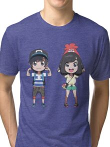 Pokemon Sun and moon trainers Tri-blend T-Shirt