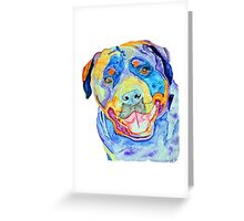 Rottweiler rainbow Greeting Card