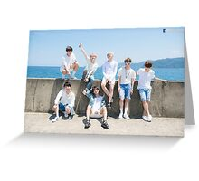 BTS Poster - Beach Greeting Card
