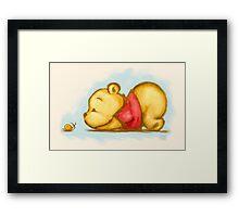 A Bear and His Snail Framed Print