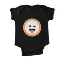Salmon Maki Sushi Roll Emoji Wink and Tongue Out One Piece - Short Sleeve