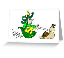 Racing Snail Faerie Greeting Card