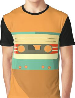 Orange Retro Mixtape Graphic T-Shirt