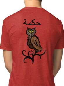 Psychedelic Owl Colour Tri-blend T-Shirt