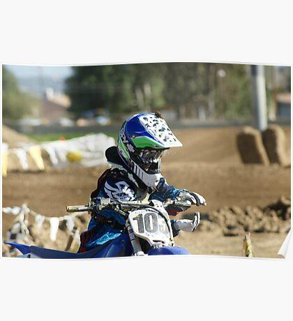 MX Mud Tap!  Ooops! Didn't check helmet; Perris, CA, Perris MX March 2009, (573 Views as of 5-16-11) Poster