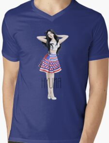 Hyuna's Red Mens V-Neck T-Shirt