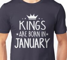 Kings Are Born In January Birthday Gift for Him Shirts and Mugs Unisex T-Shirt