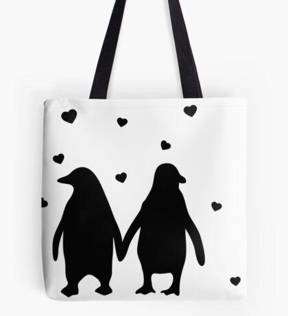 Penguins In Love - Love Each Other Penguins- penguin shirt Tote Bag