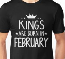 Kings Are Born In February Birthday Gift for Him Shirts and Mugs Unisex T-Shirt