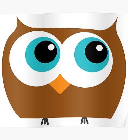 Cartoon Owl Poster