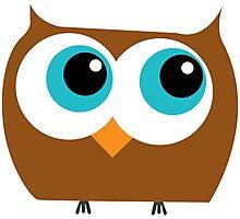 Cartoon Owl Photographic Print
