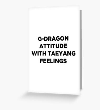 G-DRAGON ATTITUDE Greeting Card