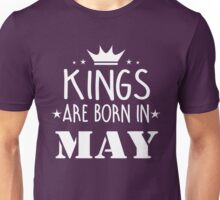 Kings Are Born In May Birthday Gift for Him Shirts and Mugs Unisex T-Shirt