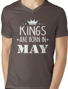 Kings Are Born In May Birthday Gift for Him Shirts and Mugs Mens V-Neck T-Shirt
