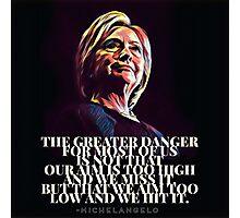 Hillary - Aim High Photographic Print