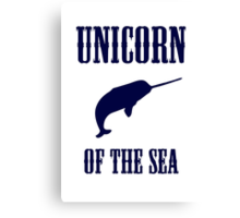 Narwhals: Unicorn of the Sea Canvas Print