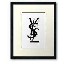 YSL Dollar Yen British Pound Framed Print
