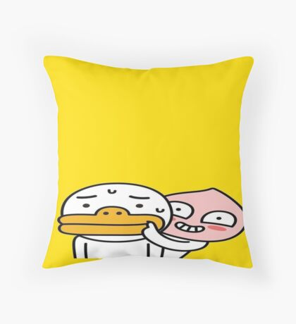 Apeach & Tube, our Kakao friends   Throw Pillow